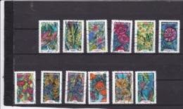 Série Fleurs 1300-1311  Le Lot Oblitéré - Frankrijk