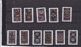 Série Vitraux 1348-1359  Le Lot Oblitéré - Frankrijk