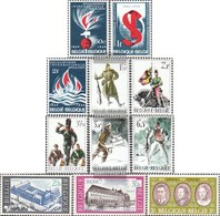 Belgium 1350-52,1353-55, 1356-57,1364-65,1366 (complete Issue) Unmounted Mint / Never Hinged 1964 Anniversary, World War - Belgien