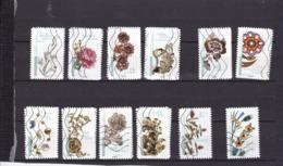 Série Motifs Floraux 1410-1421  Le Lot Oblitéré - Frankrijk