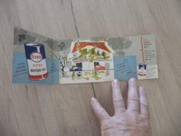 Pub Publicité  Illustrée  3 Volets Esso Extra Motor Oil Huile De Moteur - Advertising