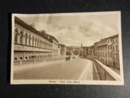 20010) ANCONA CORSO CARLO ALBERTO VIAGGIATA 1940 BOLLO MALAMENTE ASPORTATO - Ancona