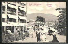 AK Jalta, Le Quai, Crimée, Sommerliche Strassenpartie - Ukraine