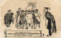"""Illustrateur """"ESPERANTO"""" La Malfero De La TRIA UNIVERSALA KONGRESSO Kembrudge Augusto 12 1907 RV - Esperanto"""