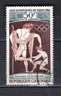 GABON  PA N° 25  OBLITERE  COTE 0.60€    JEUX OLYMPIQUES TOKYO - Gabun (1960-...)