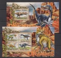 TG022 2016 TOGO TOGOLAISE FAUNA PREHISTORIC ANIMALS DINOSAURS LES DINOSAURES KB+BL MNH - Postzegels