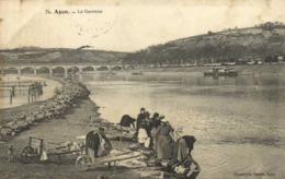 AGEN  La Garonne Les Laveuses à L'ouvrage RV - Agen