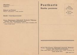 GG Formular: Postkarte DPO 444 (3.41), Blanko - Besetzungen 1938-45