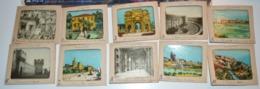 Très Rare Ancêtre De La Diapositive Lot De 24 Images Type épinal Sur Le Pays De Frédéric Mistral La Provence En Boite - Fotografia