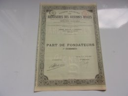 ARDOISIERES DES ARDENNES BELGES (1907) - Acciones & Títulos