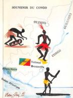 CONGO SOUVENIR  Ouesso Oubangui Carte Double 1 (scan Recto Verso)KEVREN0VIC - Französisch-Kongo - Sonstige