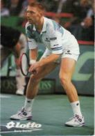 Tennis - Boris Becker - Lotto - Advertising Card - Tennis