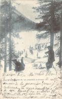 Chasseurs Alpins Skieurs Du 159 RI Préparant Le Bivouac Dans Une Clairière Enneigée En 1900 Carte Précurseur - Maniobras