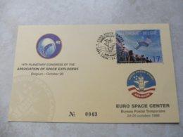 Belgique Espace Euro Space Center Numeroté Oblitération Navette Spatiale 1998 ( Bureau Temporaire ) - Documents Of Postal Services