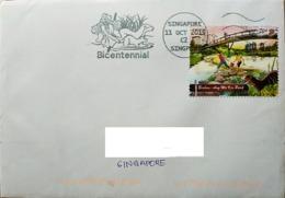 Singapore 2019 Otter Slogan Postmark Bicentennial - Briefmarken