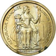 Monnaie, Nouvelle-Calédonie, 2 Francs, 1949, Paris, ESSAI, SUP, Nickel-Bronze - Nieuw-Caledonië