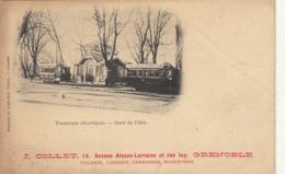 Carte Postale Tramways électriques Gare De Claix Publicité Collet à Grenoble - Claix