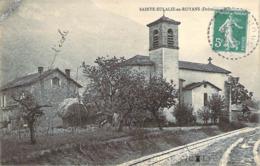 26 DROME Les Rails Du Tramway Devant L'église De Sainte-EULALIE En ROYANS - Francia