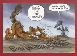 ANIMAUX - HUMOUR - SOURIS - RAT - CHAT - ILLUSTRATEUR : PTILUC - 1995 - BEL ART ED. - UN AN DE PLUS... - Otros