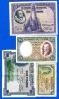 Espagne  7  Billets - [ 2] 1931-1936 : Republic
