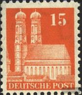 Bizonale (Allied Cast) 81 Lontano Dentato Con Fold 1948 Edifici - Zone Anglo-Américaine