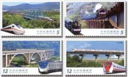 2017 Railway Bridge Stamps Train Railroad River - History
