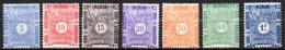 Col17  Colonie Cote Des Somalis Taxe  N° 1 à 8 Sauf 6 Neuf X MH Cote 21,00€ - Côte Française Des Somalis (1894-1967)