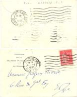 Verso : PARIS VIII DISTRIBUTION OMec FLIER 7 LIGNES Du 4-1-1933, LETTRE MINISTÈRE DE LA MARINE MARCHANDE 70x110mm - Mechanische Stempels (varia)