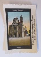 Vignetten Serie Speyer Dom Gebr. Heinemann Neuss Wollwaren ♥ (42613) - Werbung