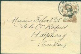 INDOCHINE ENV EP N° 50 Ob ANNAM 3.1.1924 Pour HAIPHONG Daté Verso 246 (117 X 70 ) TB Cote 150 €. - Indochina (1889-1945)
