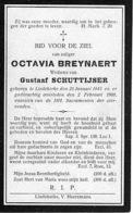 Bidprentje - Octavia Breynaert - Schuttijser - Liedekerke - Décès