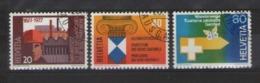 SVIZZERA 1977 SERIE DI PROPAGANDA UNIF. 1030-1032 USATA VF - Usati