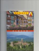 1 CARNET DE 11 CARTES POSTALES + 1 CARNET PUB DE 10 VUE . HIST DE L'ALSACE AU VERSO EN FR - G.B - ALL - Alsace