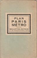 Rare Ancien Plan Du Métro Parisien Ancien - Cartes