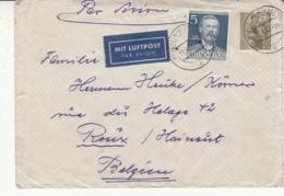 Enveloppe   De 1953 Vers La  Belgique   2 Scan - Brieven En Documenten