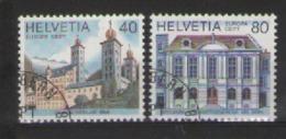 SVIZZERA 1978 EUROPA UNIF. 1058-1059 USATA VF - Usati