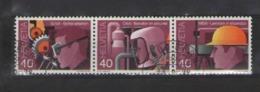 SVIZZERA 1978 SERIE DI PROPAGANDA UNIF. 1064-1066 USATA VF IN STRISCIA - Usati
