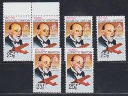 "British Antarctic Territory  1981 25p Value Perf. 12 Hubert Wilkins ""San Francisco"" 6X ** Mnh (45024) - Brits Antarctisch Territorium  (BAT)"