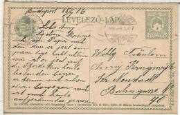 HUNGRIA BUDAPEST ENTERO POSTAL 1916 - Enteros Postales