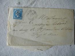 Pressigny Le Grand Obliteration Gros Chiffre 3024 Sur Lettre - Marcophilie (Lettres)