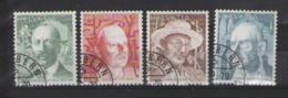 SVIZZERA 1979 PITTORI E SCRITTORI UNIF. 1080-1083 USATA VF - Usati