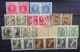 BELGIE  1922      Kopstaande    Kp 1 - 2 /  13 - 14 / 15 / 16 / 17 - 19       Eerste Scharnier *      CW 29,00 - Inverted (tête-bêche)