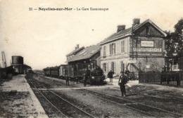 Thematiques 80 Somme Noyelles Sur Mer La Gare Economique Train En Gare Cheminots - Noyelles-sur-Mer