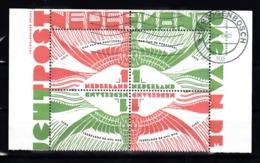 Nederland 2019 Nvph Nr ?? , Mi Nr ?? , Dag Van De Postzegel Met Keerdruk, Blok Van 4 Met Keerdruk, Gestempeld - 2013-... (Willem-Alexander)