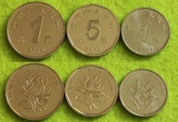 China - Set 3 Coins 1 5 Jiao + 1 Yuan  2019 UNC Lemberg-Zp - Cina