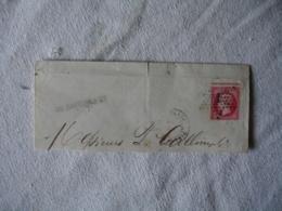 Yt 24 Empire Franc Rose 40 C Obliteration Etoile Paris Petit Piquage Cheval Sur Frangment - Marcophilie (Lettres)