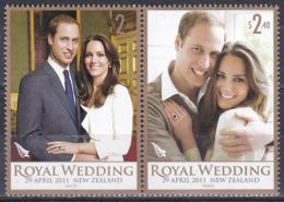 Neuseeland New Zealand 2011 Persönlichkeiten Königshäuser Royals Prinz William Kate Middleton Hochzeit, Mi. 2781-2 ** - Nueva Zelanda