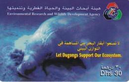 TARJETA DE EMIRATOS ARABES DE UN DUGONG - Emirati Arabi Uniti