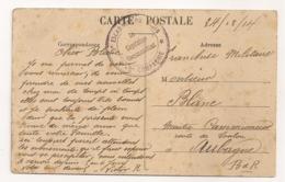 CACHET 15 EME ESCADRON DU TRAIN 3EME CIE  / AU DOS SAINTE MAURE AUBE  B1131 - Marcophilie (Lettres)