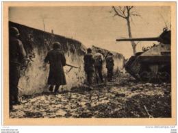 MILITARIA GUERRE 1939-45  Progression D'Infanterie Avec Appui De Char. WITTENHEIM, 27 Janvier 1945    2 Scans - Weltkrieg 1939-45